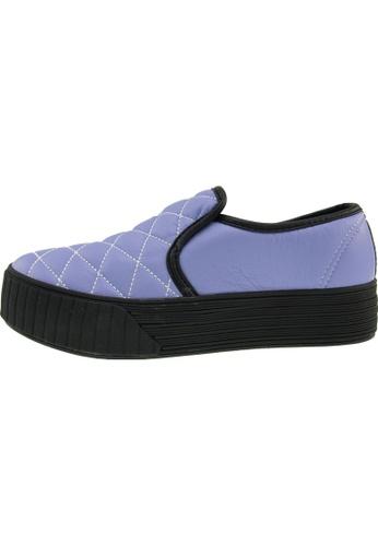 Maxstar 紫色 新款韩国鞋C30-Stitch-TC時尚皮革布混合女紫色 US Women Size MA345SH18GWJTW_1