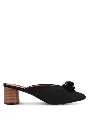 ZALORA black Pom Pom Heels FB181SH191843BGS_1