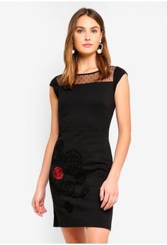 34a95549cdf2 Desigual black Clemente Black Woven Dress EA53EAA8AF1B82GS 1