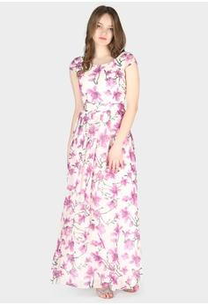 8afa5169035104 London Rag purple Flower Print Chiffon Maxi Dress EB788AAA8B6ACAGS_1