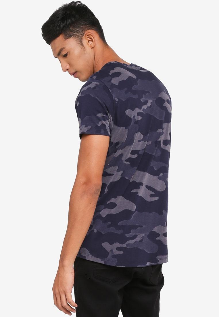 Hype Camo Laser Navy Shirt Just T TY6wqU