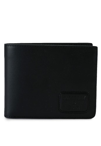 Superdry black NYC Bifold Leather Wallet - Original & Vintage 78839ACE184A4CGS_1