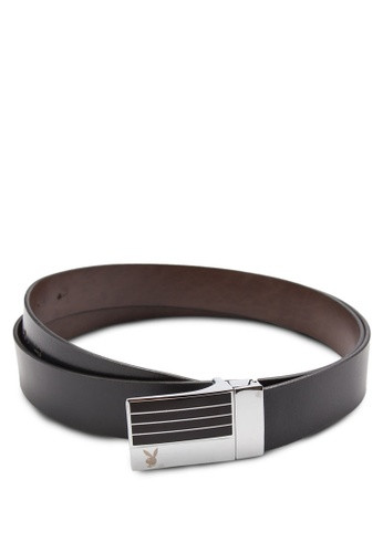 Playboy black and brown Playboy Belt PL371AC53ZLUMY_1