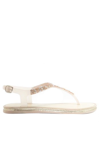 Twenty Eight Shoes pink Crystal T-Strap Jelly Flat Sandals A99-2 58EE6SH791724DGS_1
