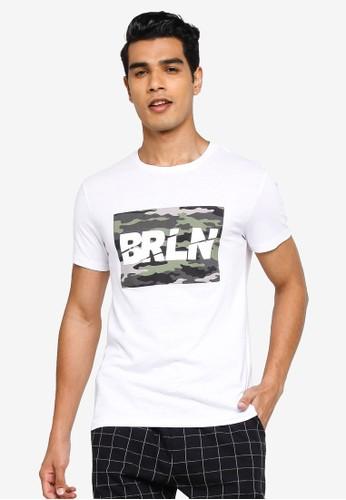 KOTON white BRLN T-Shirt 1AC27AAB51FC92GS_1