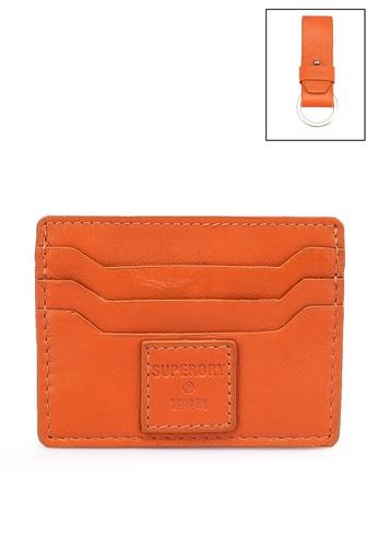 Superdry orange Card Holder & Key Ring Set 6337DAC9F8C3B4GS_1