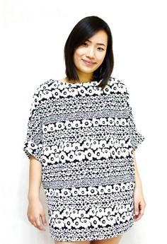 Floral Stripe Print Big Size Blouse