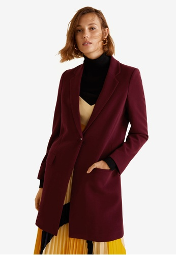 Mango red Lapels Structured Coat 55BE1AA55594A2GS_1