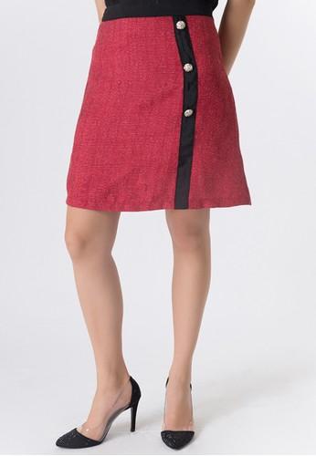United Concepts red Matador Woven 'Marie' Skirt 7A91CAA81FA0D3GS_1