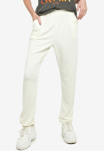 MISSGUIDED 白色 Tall 基本Joggers 5C92EAA6168640GS_1