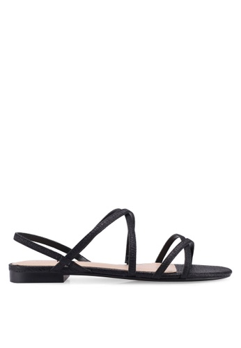 Mango black Metallic Strap Sandals 6BF15SHC8F3D20GS_1