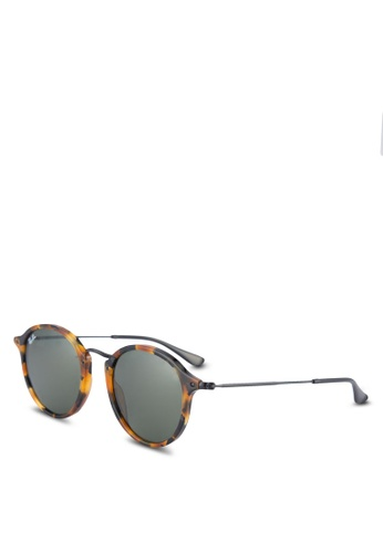 Ray-Ban brown Round Fleck RB2447 Sunglasses RA896GL59ULOMY_1