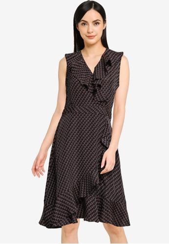 G2000 black Dot Print Ruffled Dress 88464AAEAC2C85GS_1