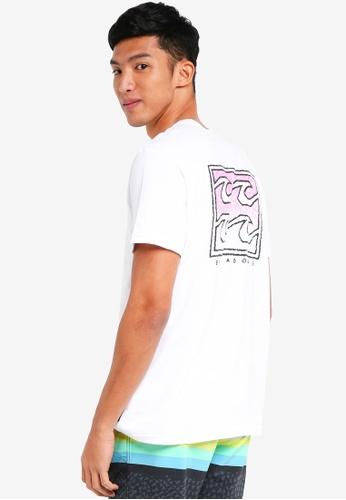 Billabong 白色 短袖印花T恤 BI783AA0SXH0MY_1