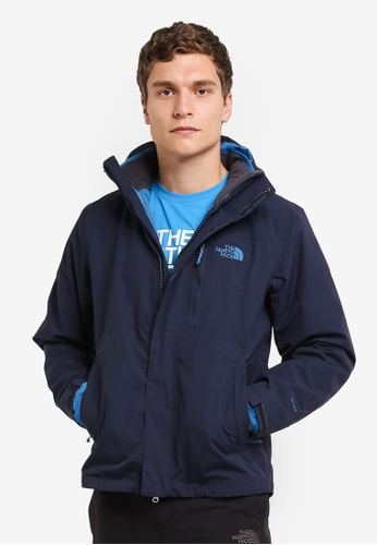 The North Face black TNF M TIBERIUS TRICLIMATE JACKET - AP URBN NVY/BNFF BLU TH879AA0FMD6SG_1