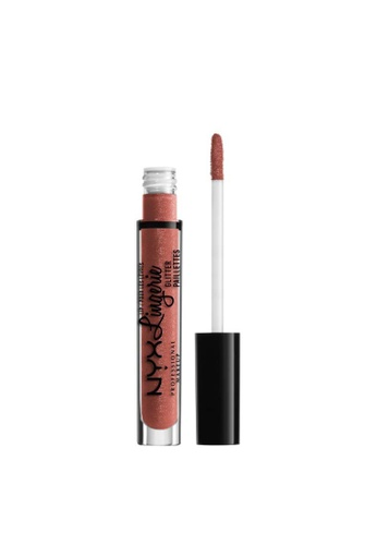 NYX Professional Makeup pink NYX Professional Makeup Lip Lingerie Glitter - LLGLI03 BARE WITH ME 5B633BE5A7A16DGS_1
