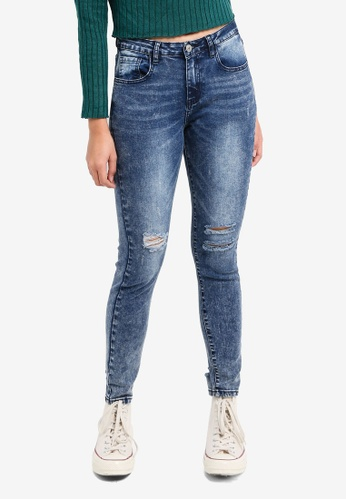 Something Borrowed blue Knee Rip Skinny Jeans 6F523AACD1920AGS_1