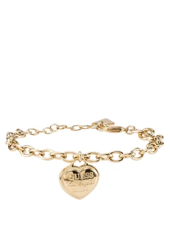 c1049bbe9f09 Buy Guess Follow My Charm Small Chain   Heart Charm Bracelet Online on  ZALORA Singapore