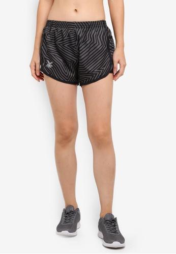 FBT black and grey Training Shorts with Side Pockets 915C7AAF347AEEGS_1
