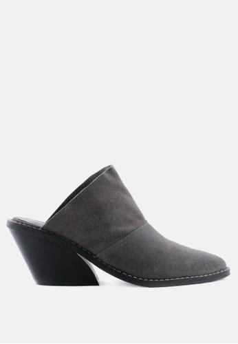 RAG&CO grey Classic Mule Heels D0146SHAFAD2CBGS_1