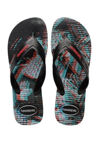 Havaianas black Havaianas Top Max Motion Fc 0090-Black  - Sandal Pria 9B70FSHE1CE21EGS_1