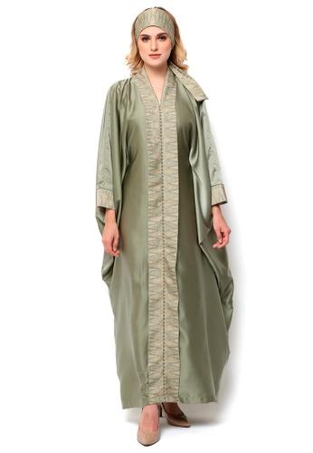 Kanzi by liza yahya green Kanzi Exclusive Long Sleeve Songket Kaftan A658FAA013CCE9GS_1