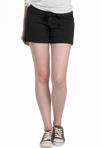 Bove by Spring Maternity black Knitted Cotton Spandex Shorts LB1504 SP010AA25AQCSG_1