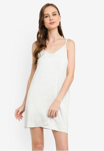 Cotton On Body grey Sleep Recovery V Neck Nightie 08E83AADE79FB0GS_1