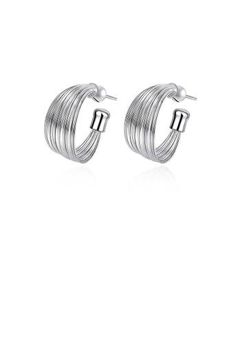 Glamorousky silver Fashion Simple Geometric Earrings D65BFACA416775GS_1