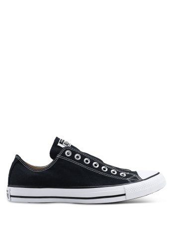 2f442f7042d0 Converse black Chuck Taylor All Star Core Slip On Sneakers  188ABSH56D1282GS 1