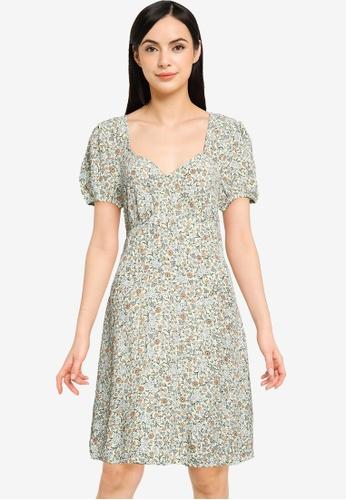 Cotton On multi Woven Essential Tie Back Mini Tea Dress E628DAAB0DEA53GS_1