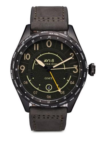 Lancaster Bomber 皮革手錶, 錶類, 休esprit outlet 台灣閒型