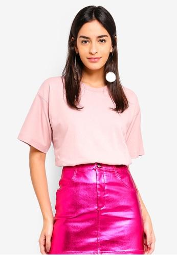 TOPSHOP pink Boxy T-Shirt 30227AAC457F21GS_1