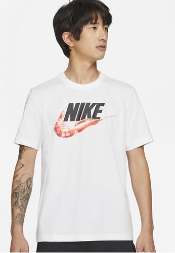 Nike white Men's Sportswear Food Shrimp Tee A5B33AA1DA85F7GS_1