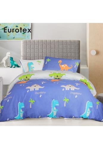 Eurotex Eurotex Junior, 900 Thread Count 100% Cotton, Kids / Children / Boys / Girls Bedsheet, Fitted Bedsheet Set (without Quilt Cover) - Roarr 13248HLF589644GS_1