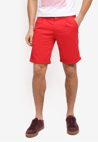 Calvin Klein red Hayden Pleat Shorts - Calvin Klein Jeans 69980AA43EE8C6GS_1