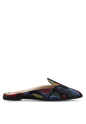 ZALORA 黑色 and 多色 Loafer Mules 58CC6SH70CA072GS_1