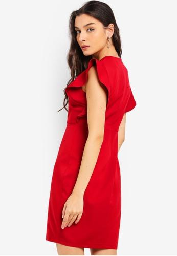 35c17e1834 Buy ZALORA Ruffles Sleeves Semi Formal Dress Online