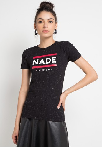 Nade black and multi S/S Lds Nade 2Lines Red 90D58AA2EE9A3AGS_1