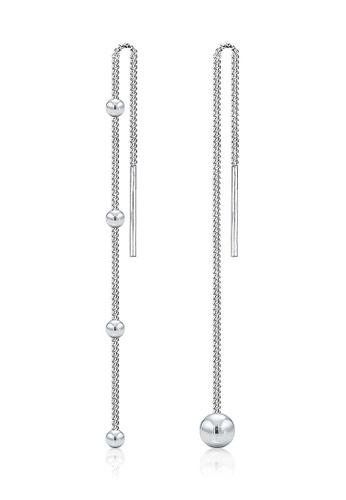 Elli Germany silver Elli Germany Earrings Asymmetrical Ball Geo Sterling Silver AA204AC1F23B78GS_1