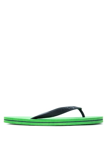 BENCH green Basic Rubber Slippers BE550SH99MBOPH_1