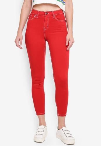 TOPSHOP red Moto Red Jamie Jeans 312C9AA99984CEGS_1