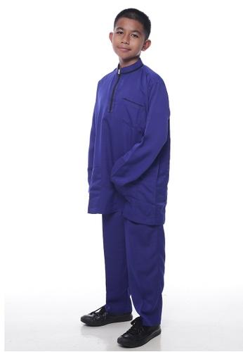 Denai Boutique blue Baju Melayu Sayyed 589FFKA538B73BGS_1