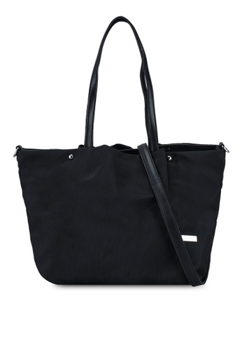 NUVEAU black Premium Oxford Nylon Tote Bag Set of 2 5B3ADAC07C83D7GS_1