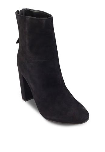 鞋背拉鍊麂皮高跟短靴,esprit台灣門市 女鞋, 鞋