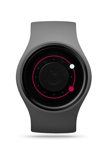 ZIIIRO black and grey and red Orbit One Grey Watch C1179ACA4786FAGS_1