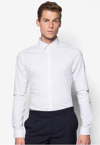 彈性長袖襯衫, 服飾,esprit台灣 印花襯衫