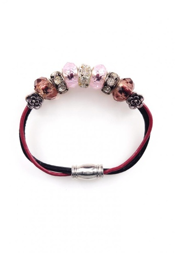 Her Jewellery multi Monroe Charm Leather Bracelet (Pink) 6ABE3AC98D6A20GS_1