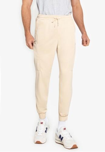 ZALORA BASICS beige Side Zip Track Pants 31821AA7AB2F9DGS_1