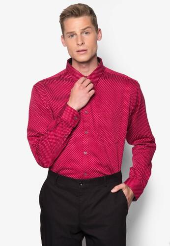 幾何印花長袖襯衫, esprit台灣官網服飾, 服飾